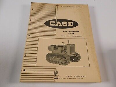 Vtg. Case Model 310f Crawler Bulldozer Tractor Parts Manual Book Catalog Oem