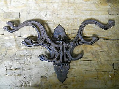Cast Iron Antique Style SWIVEL Coat Hooks Hat Hook Rack Hall Tree Restoration