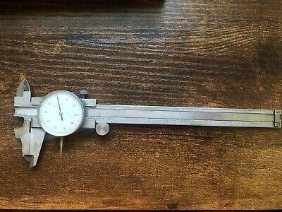Vintage Vernier Caliper Dial 0.001 6 Inch Hardened Stainless Steel