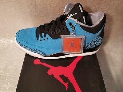 Air Jordan 3 Retro III Size 11 Dark Powder Blue White Black 136064 (Dark Powder Blue)
