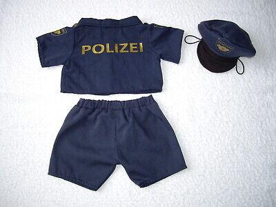 Build a Bear 3 TLG DEUTSCHE POLIZEI KOSTÜM MIT MÜTZE /  Teddy Bekleidung - Deutsche Polizei Kostüm
