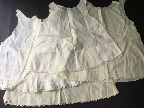 4 Antique Victorian Baby Slips for Dolls or Crafts Cutters