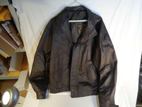 100% Leather Jacket 1999 Conrail Safety Award Zero Hero Prize Large-Some Wear
