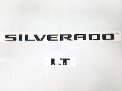 "2019-2020 Silverado "" Silverado & LT "" Tailgate Black Emblem 84300958 GM OEM New"