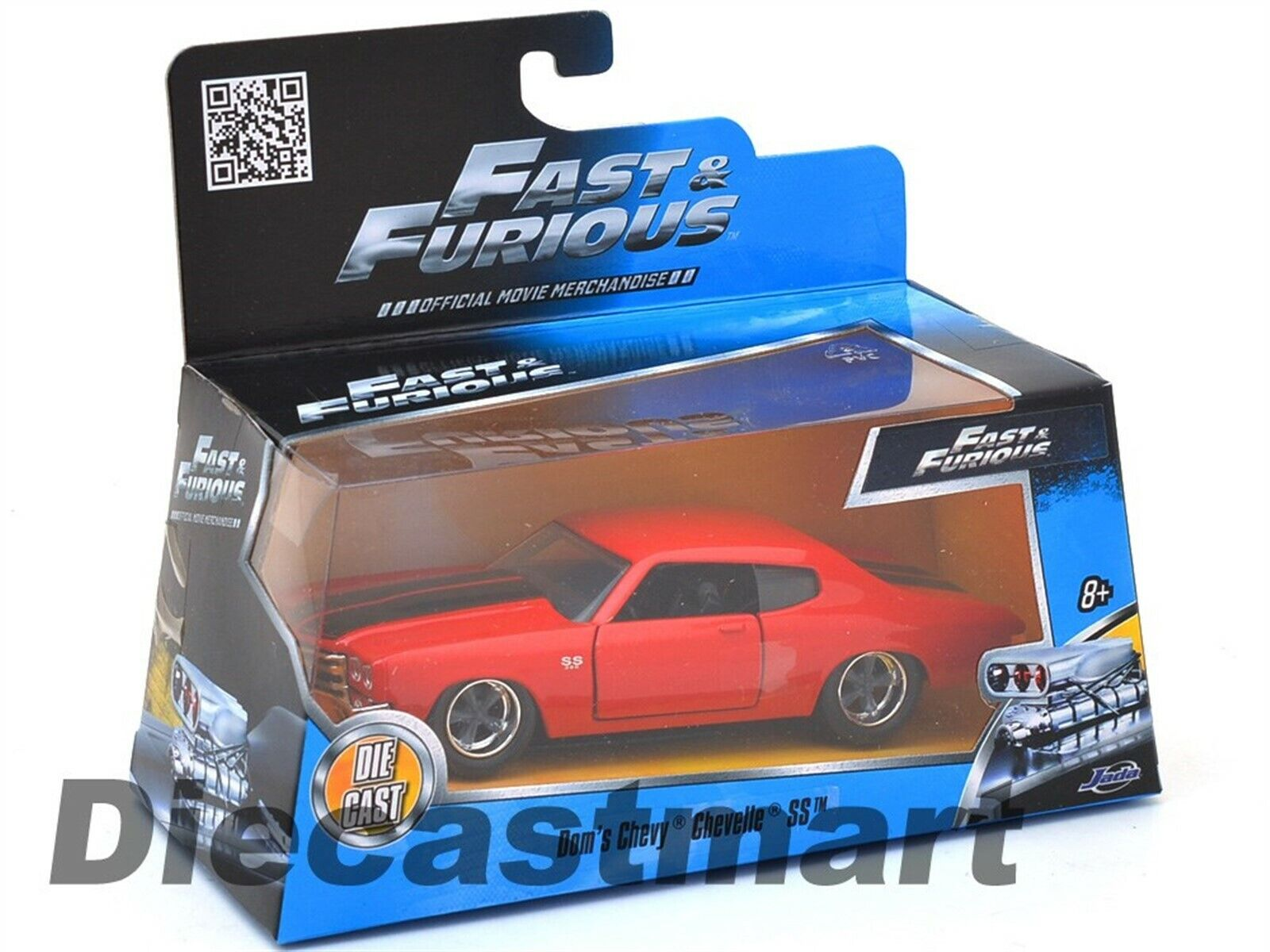 JADA DOM/'S CHEVROLET CHEVELLE SS RED FAST /& FURIOUS 1//32 SCALE   97380