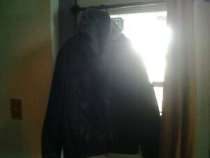 Black Leather Coat Guess from the Gap