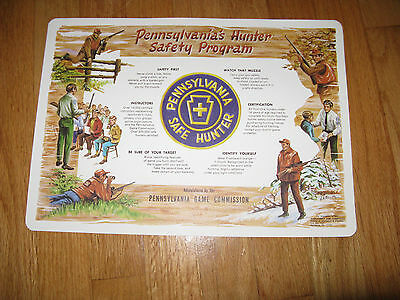 VINTAGE PA.GAME COMMISSION PA. SAFE HUNTER SIGNED MAT/PRINT BY  N. A. ROSATO
