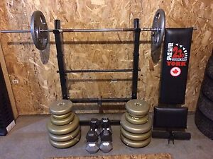 Barbell Weights and Bench