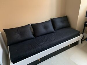 Ikea daybed with lots of storage and two roller drawers
