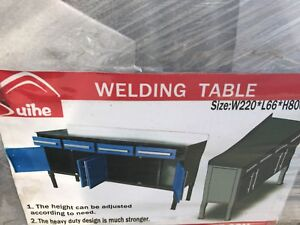 Heavy Duty Welding/Work Table.      7 ft with
