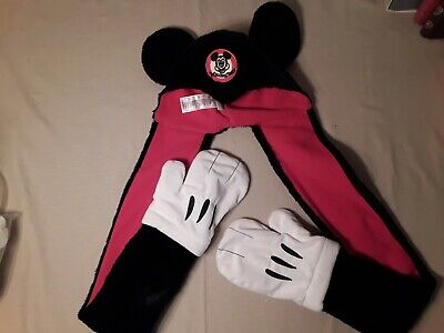 Adult Mouse Ears (Disney Mickey Mouse Ears Plush Hat with Scarf Mittens - Adult)
