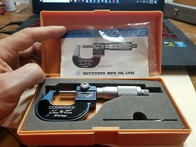 Mitutoyo 159-211 Combimike Digital Outside Micrometer 0-1 .001 Graduation