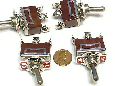 4 Pieces - Red 3 Pin Latching Lock Toggle Switch On Off On 12v 125v C41