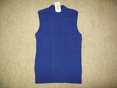 NWT WOMENS SIZE L REQUIREMENTS BEAUTIFUL DEEP PURPLE SWEATER VEST WITH CHAINS
