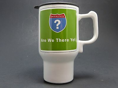 """Stir Interstate """"Are We There Yet"""" Funny Novelty Travel Coffee Mug Tea Cup FS"""