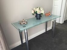 Silver and glass coffee table and hall stand Madeley Wanneroo Area Preview