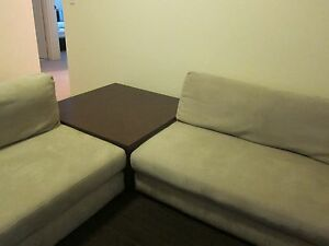 2 x 2 seater sofa lounge with coffee table Cammeray North Sydney Area Preview