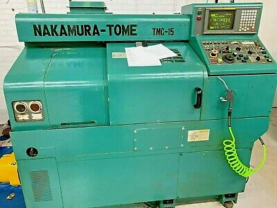 Nakamura Tome Tmc-15 Cnc Turning Center 6 Chuck Fanuc 18-t Cnc Under Power
