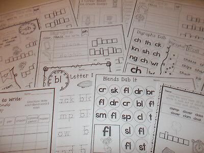 (254 Printed Blends and Digraphs Worksheets. Preschool-2nd Grade Phonics and ELA.)