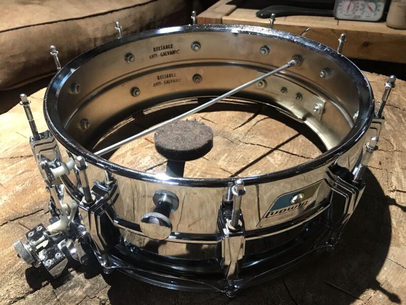 Vintage 70's Ludwig Lm411 Super Sensitive 5x14 Snare Drum NICE)