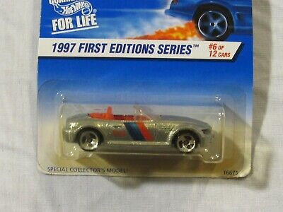 Hot Wheels 1997 #518 BMW M Roadster First Editions 6/12 Silver NIP