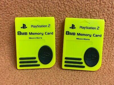 PlayStation 2 PS2 MagicGate 8MB Memory Card Lot of (2) by Nyko-- Yellow, usado comprar usado  Enviando para Brazil