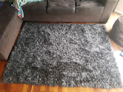Grey shaggy rug  Loganholme Logan Area Preview