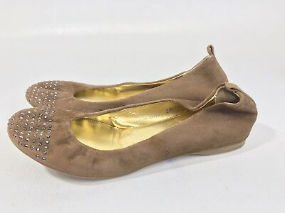 Used, J. CREW CECE Brown Suede Studded Cap Toe Ballet Flat Women US 6 Made In Italy for sale  Amarillo