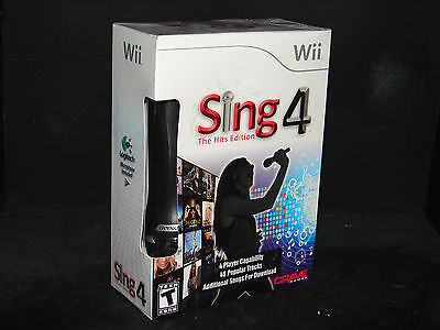 Sing4: The Hits Edition (nintendo Wii) (game & Microphone...