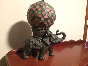 Tiffany elephant with ball lamp North Beach Stirling Area Preview
