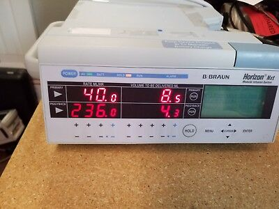 B. Braun Horizon Nxt Modular Infusion Pump As Pictured Good Condition