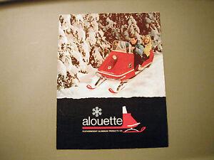 Vintage Alouette Snowmobile Sales Brochure