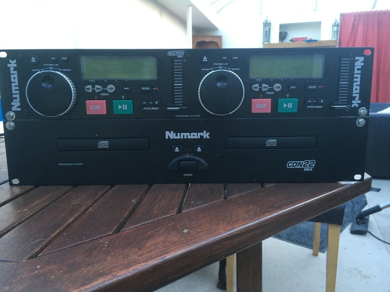 NUMARK CDN22 MK4 PRO DUAL TWIN CD PLAYER IV For DJ's