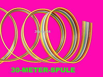 30m Flachband-Leitung 14-adrig FBL/FBK AWG28 farbig Steuerung/Daten-Kabel 1,27mm