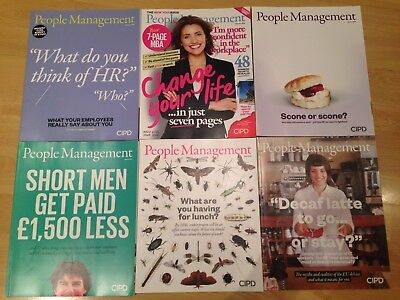 CIPD People Management HR Professional Monthly Journal Magazine X6 Jan-June 2016