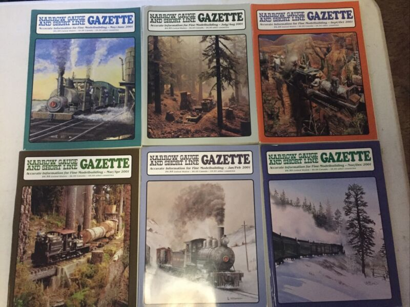 Lot Of 6) Narrow Gauge and Short Line Gazette Magazine - Complete Year 2001
