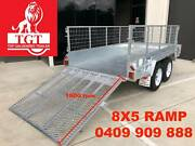 8x5 Ramp Tandem Trailer Heavy Duty, Fully Welded, Free 600mm Cage Donvale Manningham Area Preview