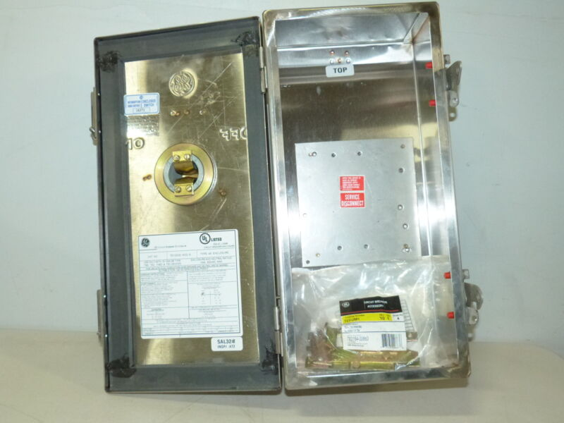 General Electric TE100CS 100a 600v Stainless Steel Nema 4/4X Enclosure NEW