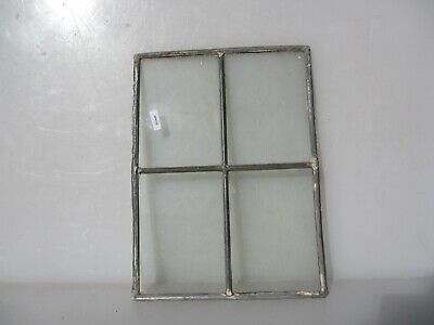 Vintage Stained Glass Window Panel Old  8.75