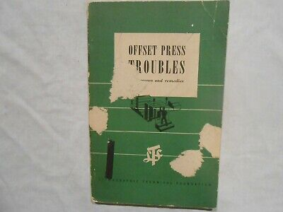Offset Press Troubles Sheet Fed Presses First Printing 1944 Fre Shipping