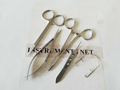 5 Micro Surgery Instruments Set Dental Surgical Medical Implant Dentistry Supply