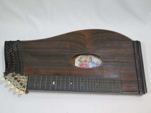 Antique German Concert Zither Harp
