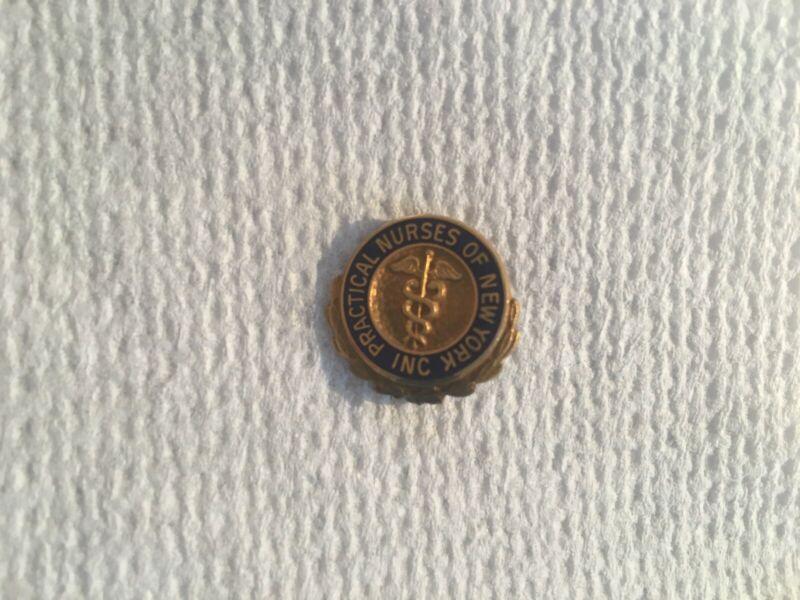 Rare Practical Nurses of New York (LPN) Lapel Pin, 1940s, 10K Gold