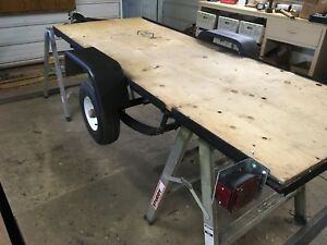 3 by 8 flatdeck utility trailer