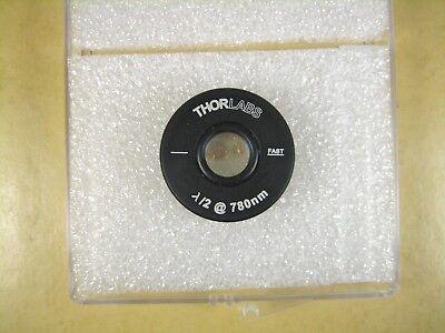 Thorlabs Wph05m-780 12 Mounted Zero-order Half-wave 01 Mount 780nm