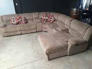 Modular Lounge Suite with Chaise and Recliners Salisbury Heights Salisbury Area Preview