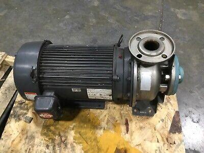 Emerson Cm62 Pump Motor 15 Hp 3 Ph Uj1se1dfm 208-230460v W Stainless Pump 9bk