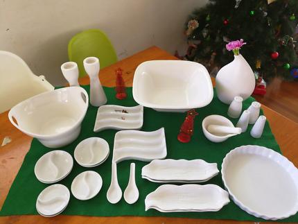 White dinner ware & Glass ware | Dinnerware | Gumtree Australia Brisbane South East ...