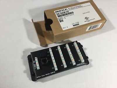 Suttle SAM-V8 Structured Media Panel Phone/Voice/Alarm Wiring Module - - Structured Media Wiring