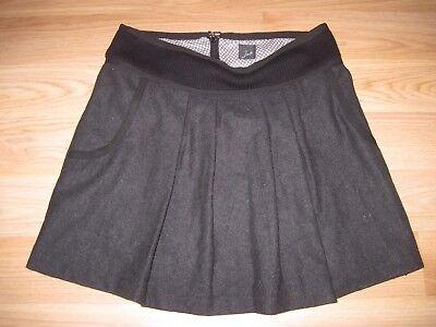 Jad Made In France Ladies Sz 2 Black Pleated Schoolgirl Style Mini Skirt/Free SH - Schoolgirl In Skirt